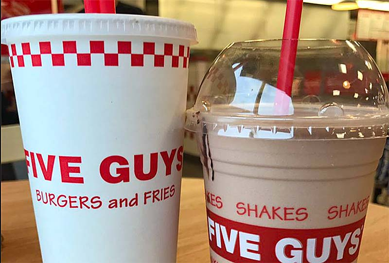 five guys burgers and fries at cityplace burlington