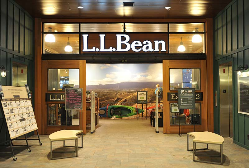 L.L.Bean storefront at CityPlace Burlington