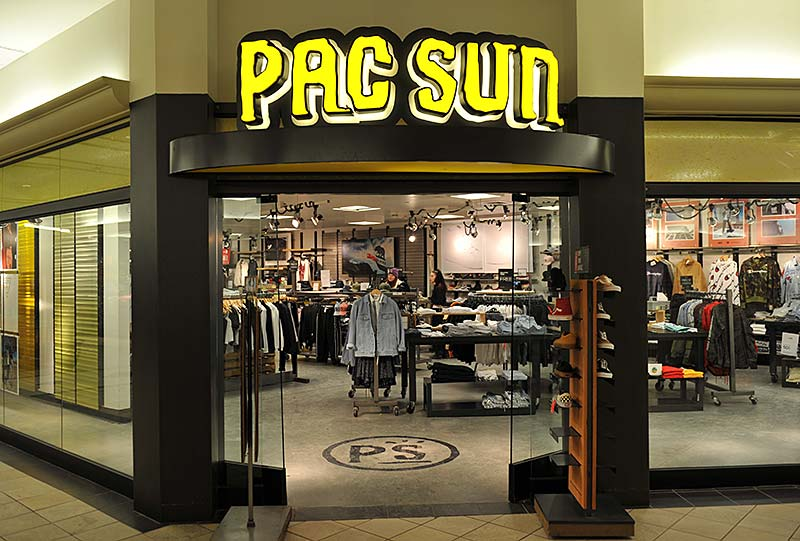 PacSun storefront at CityPlace Burlington