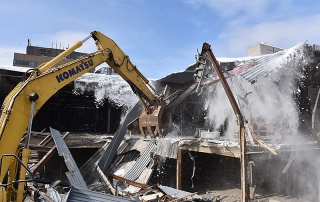 demolition of Burlington Town Center for CityPlace Burlington redevelopment