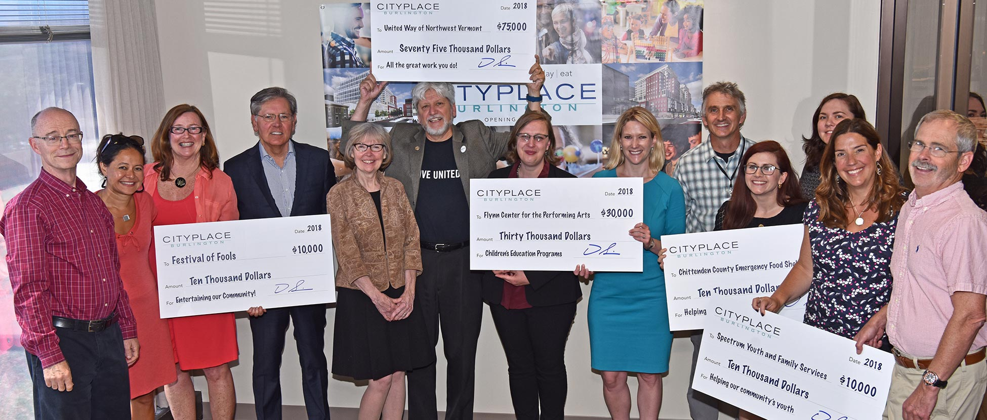 community organizations supported by CityPlace Burlington