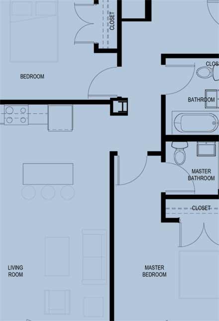 CityPlace Burlington sample floor plan