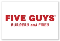 logo for Five Guys Burgers and Fries at CityPlace Burlington